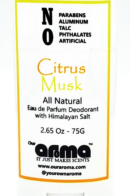 Our Aroma Citrus Musk 2.65 Oz All-Natural Deodorant