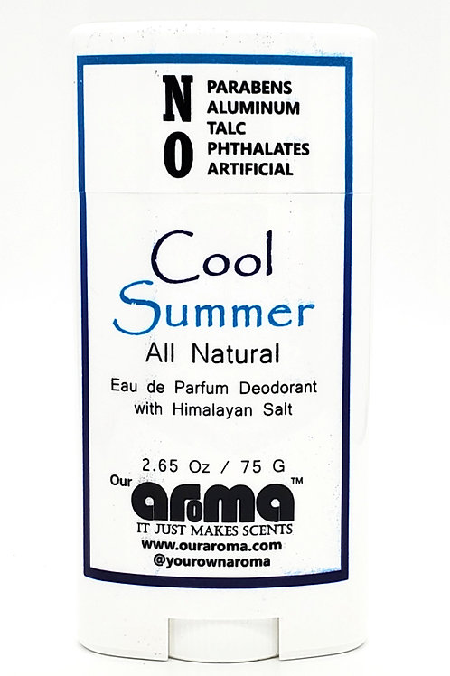Our Aroma Cool Summer 2.65 Oz All-Natural Deodorant