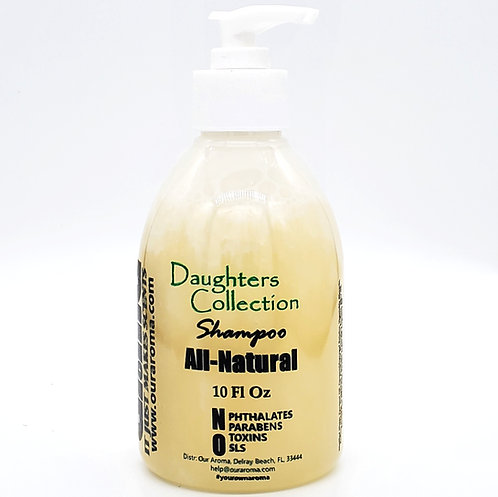 Our Aroma Daughters Collection All Natural Shampoo with Keratin & Argan Oil 10Oz