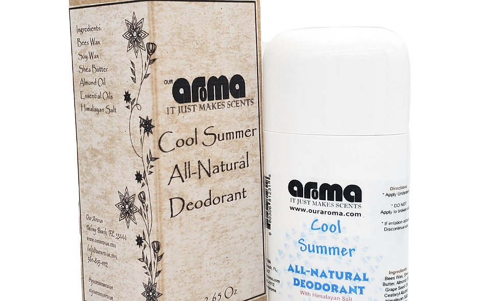 Aroma Cool Summer 2.5 Oz All-Natural Deodorant
