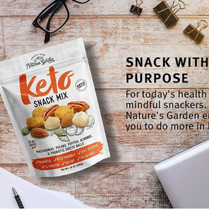 KETO SNACK MIX – THE NEW NATURE'S GARDEN 'SNACK WITH A PURPOSE'