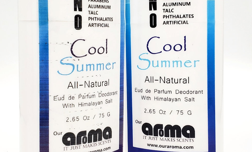 Aroma Cool Summer 2.5 Oz All-Natural Deodorant Set of 2
