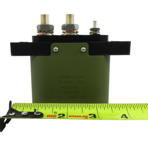Military Standard MS3506-1 Oval 28-Volt External Power Connector, Receptacle