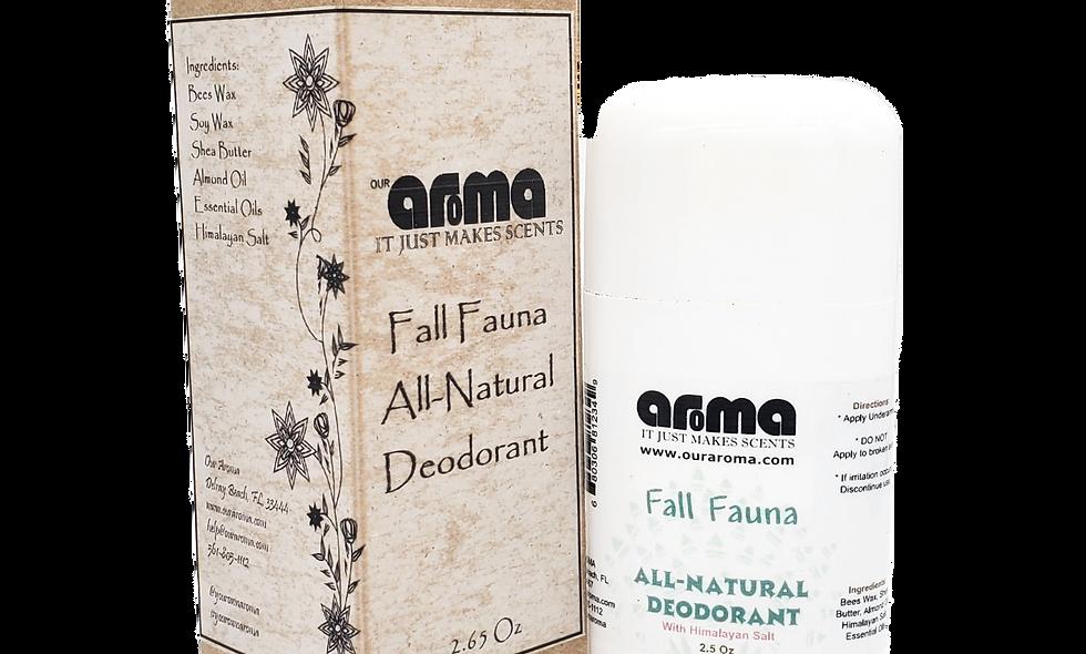 Aroma Fall Fauna 2.5 Oz All-Natural Deodorant