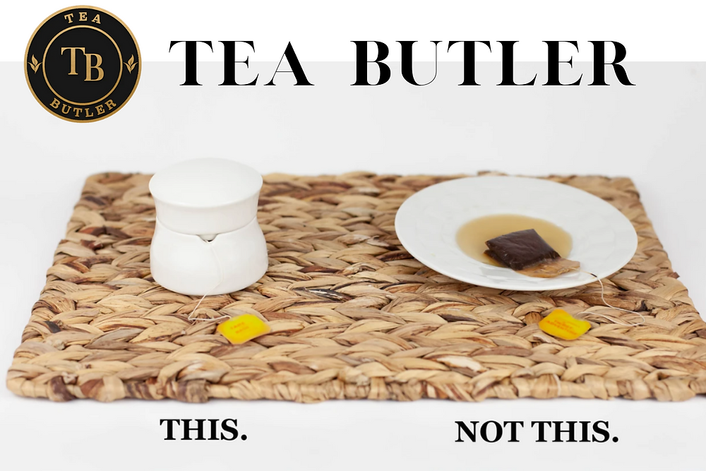 tea butler keeps your tables clean from tea bag stains
