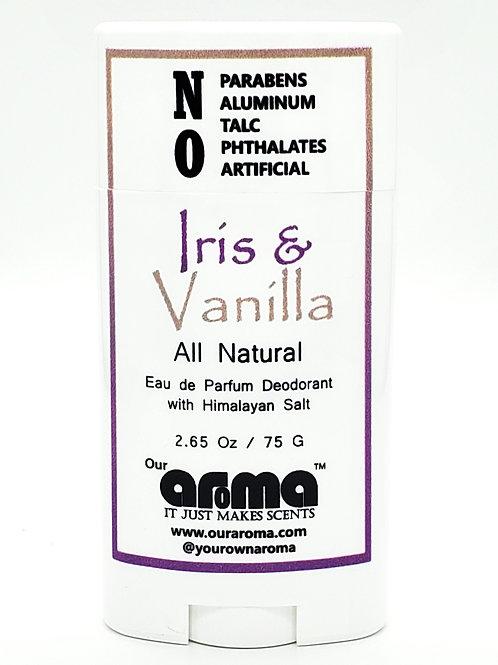 Our Aroma Iris & Vanilla  2.65 Oz All-Natural Deodorant