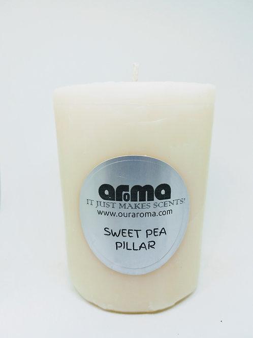 "Sweat Pea 3"" Pillar Candle"