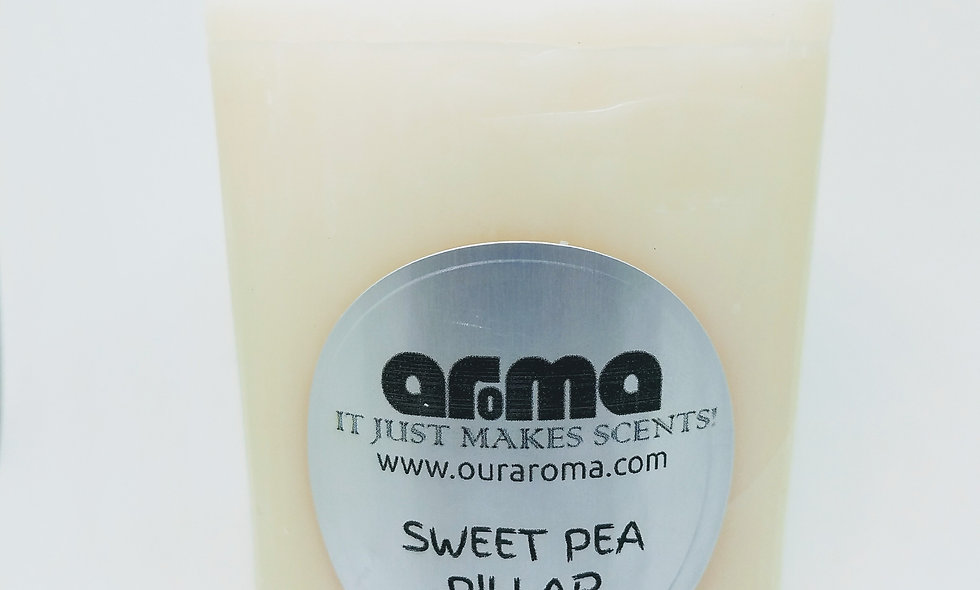 "Sweat Pea 2"" Pillar Candle"