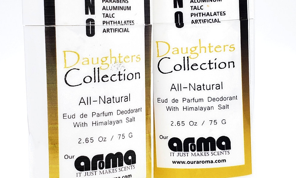Aroma Daughters Collection  2.65 Oz All-Natural Deodorant Set of 2
