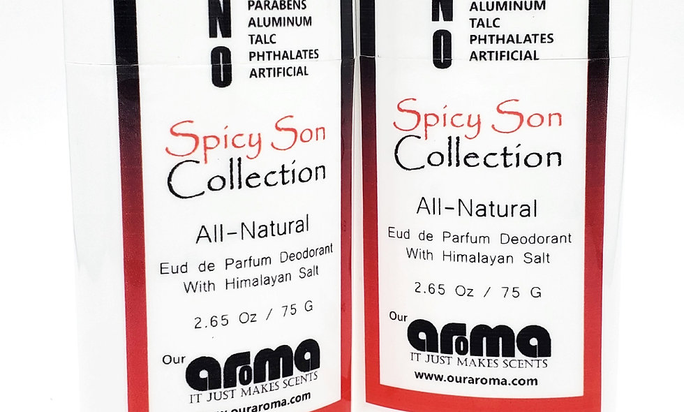Aroma Spicy Son  2.65 Oz All-Natural Deodorant Set of 2
