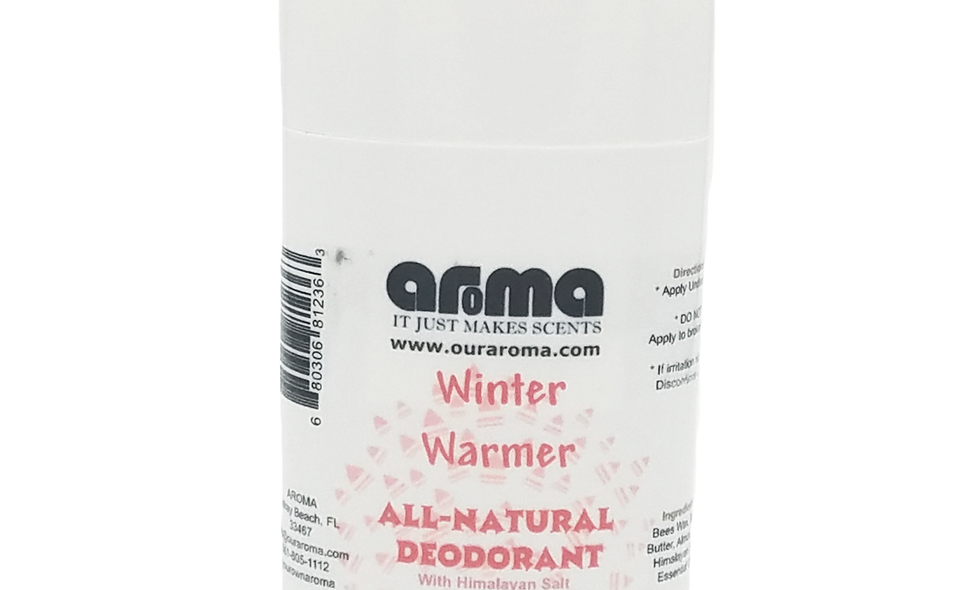 Aroma Winter Warmer 2.5 Oz All-Natural Deodorant