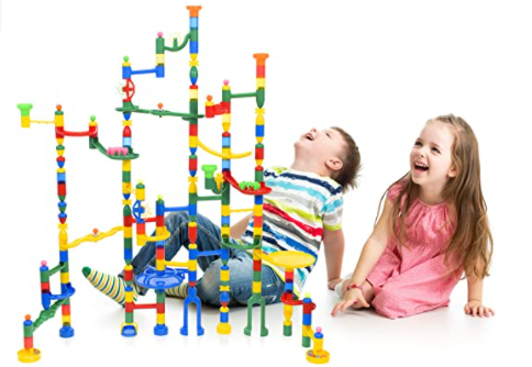 Marble run toy for fun family time