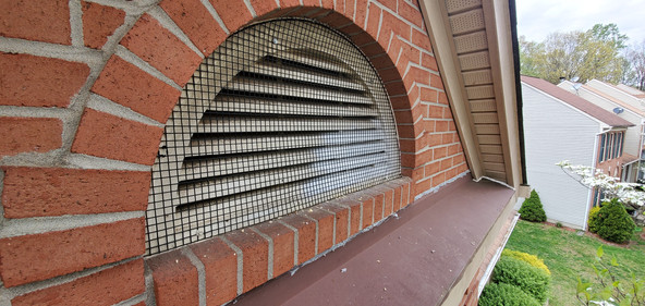 Covered Gable Vent after repair