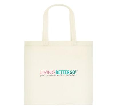 LivingBetter50 Cotton Shopping Tote Bag