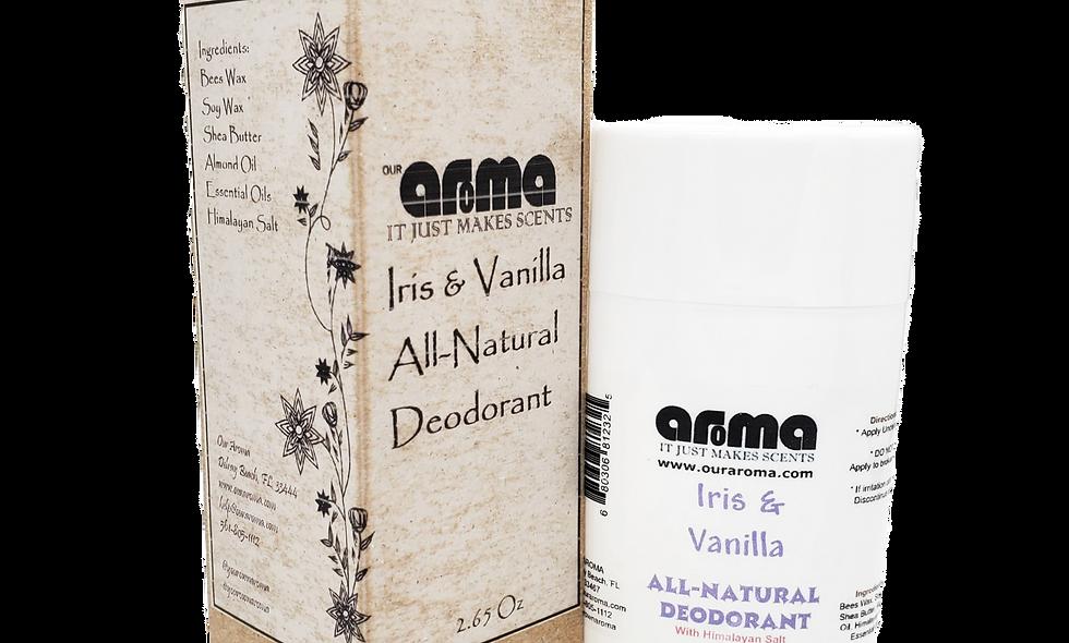 Aroma Iris & Vanilla  2.65 Oz All-Natural Deodorant Set of 2