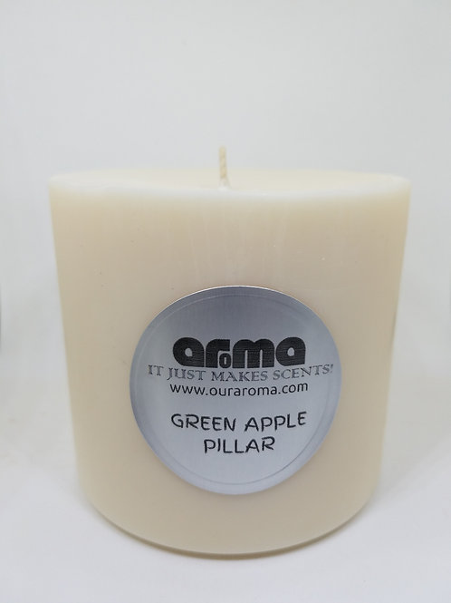 "Green Apple 4"" Pillar Candle"