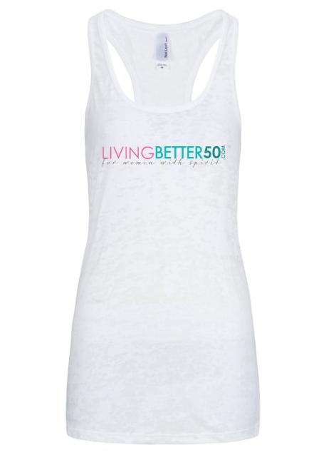 LivingBetter50  Ladies' Racerback Tank Top