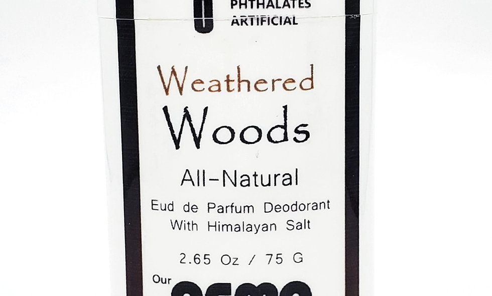 Aroma Weathered Woods 2.5 Oz All-Natural Deodorant