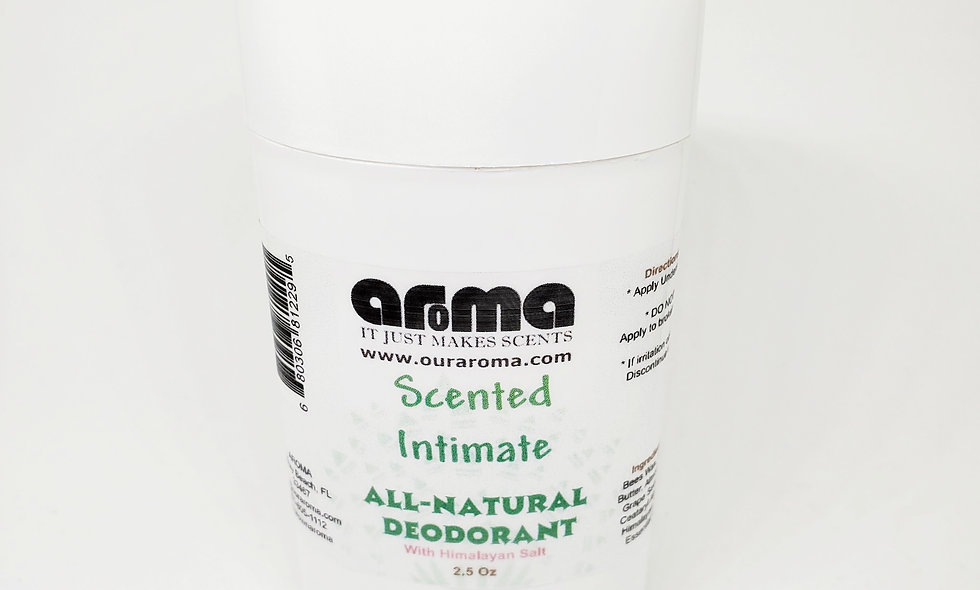 Aroma Men/ Women's Intimate 2.5 Oz All-Natural Scented Deodorant