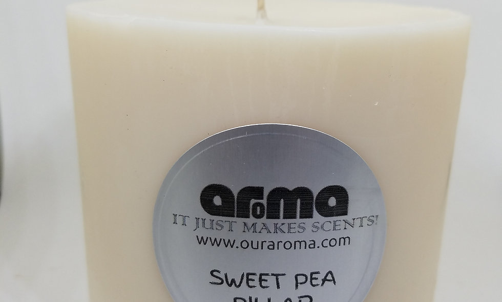 "Sweat Pea 4"" Pillar Candle"