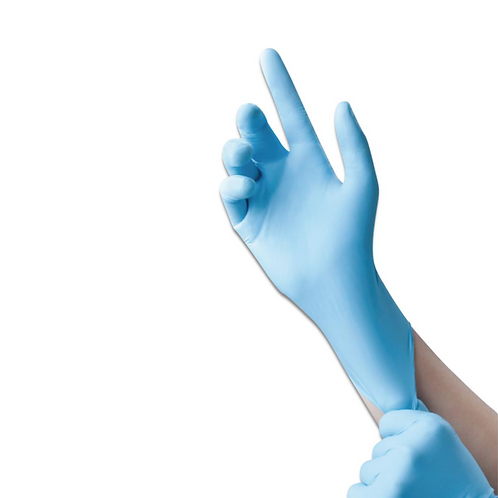 Non-Sterile Nitrile Textured and Powder Free Exam Gloves - Large