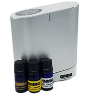 A single room atomizing diffuser for essential oils to benefit from the aromatherapy qualities of the pure essential oils