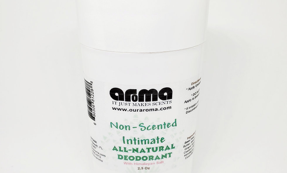 Aroma Men/ Women's Intimate 2.5 Oz All-Natural Unscented Deodorant