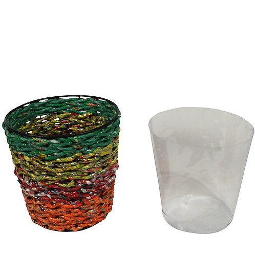 Planter made of Recycled Candy Wrappers