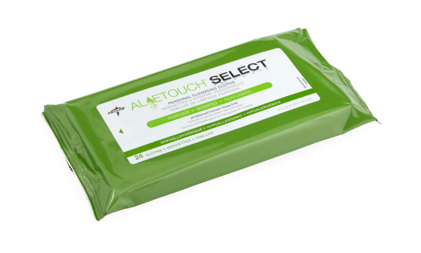 Aloetouch SELECT Premium Spunlace Personal Cleansing Wipes - 24 Pk
