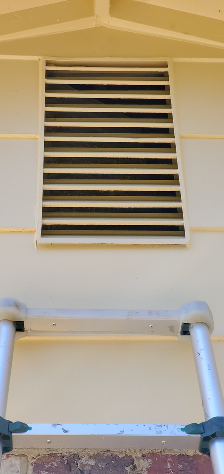 Bare and unprotected air vent