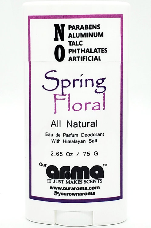 Our Aroma Spring Floral 2.5 Oz All-Natural Deodorant