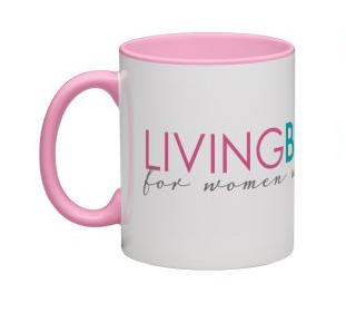 LivingBetter50 Mug with Pink