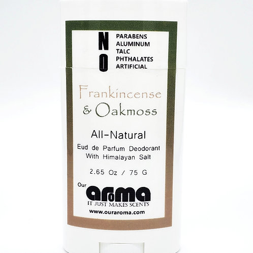 Our Aroma Frankincense and Oakmoss 2.5 Oz All-Natural Deodorant