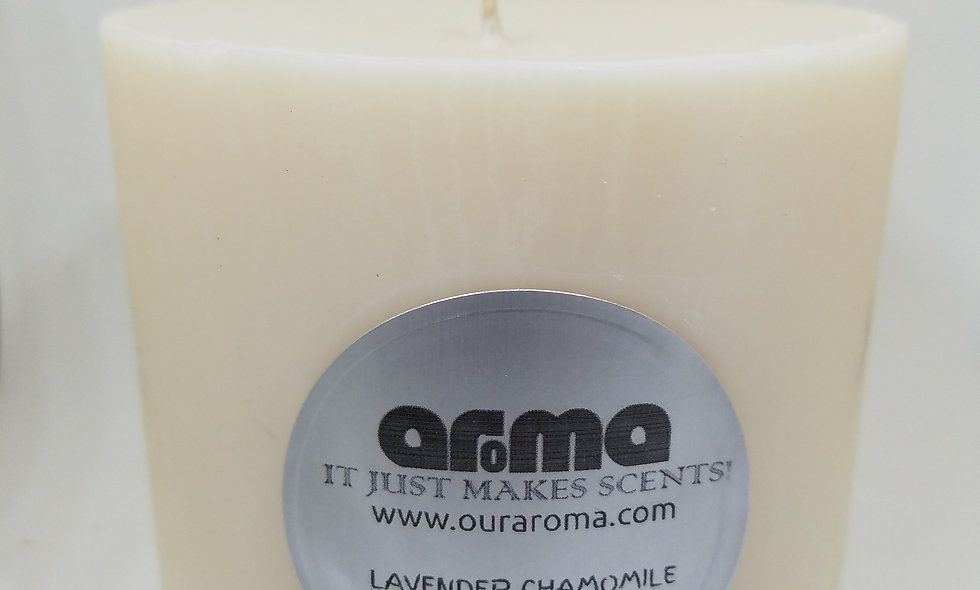"""Lavender and Chamomile 4"""" Pillar Candle"""