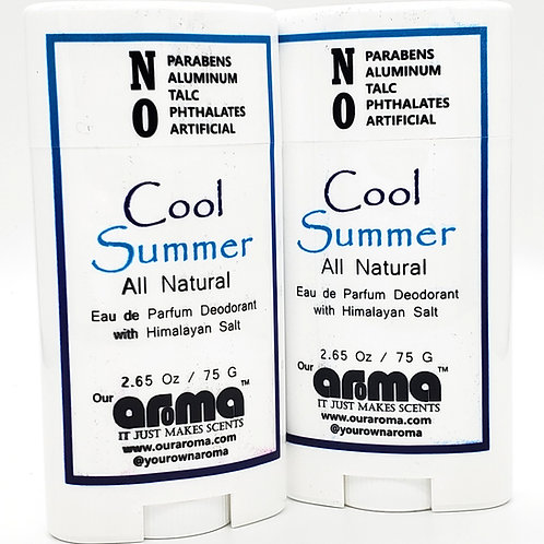 Our Aroma Cool Summer 2.5 Oz All-Natural Deodorant Set of 2