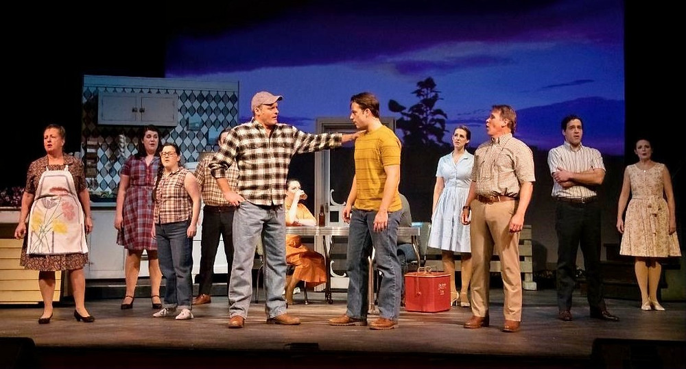 "The cast of ""The Bridges of Madison County"" at the Kavinoky Theatre"