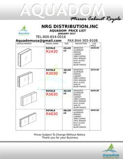 MIRROR CABINET ROYALE Pricee