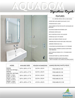 lighted medical cabinets signature royale