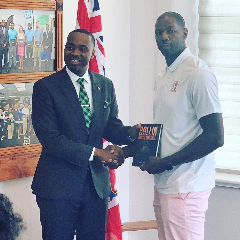 Book signing Honorable Premier David Bur