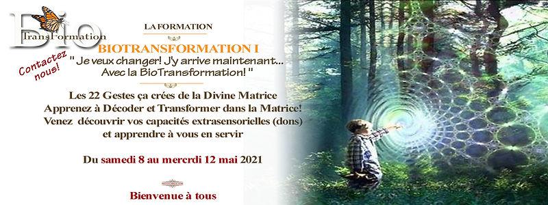 Biotransformation I  du 8 au 12 mai 2021