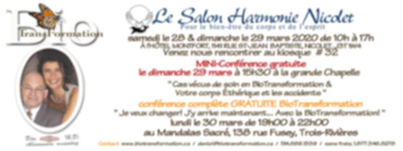 Facebook Salon Harmonie, Nicolet mars  2