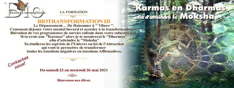 Biotransformation III du 22 au 26 mai  2