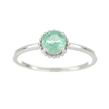 925 Silver ring with Natural Emerald