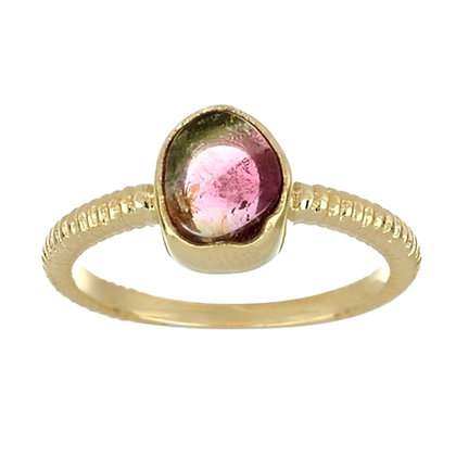 Water Melon Tourmaline Ring
