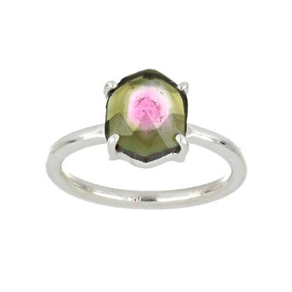 Natural Watermelon Tourmaline Ring