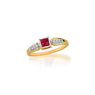 Invisible Setting Ruby and Diamond ring|インビジブルセッティングルビーとダイヤモンドリング