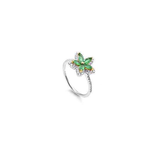 Emeralds and Diamonds Ring|エメラルド・ダイヤモンドリング