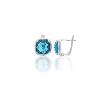 Blue Topaz Earrings |ブルートパーズイヤリング