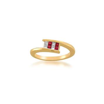 Diamond and Ruby Gold Ring|ダイヤモンド・ルビーゴールドリング