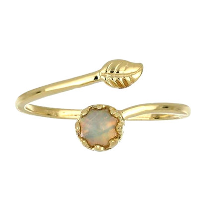 Minimalist Design Gold and Opal Ring